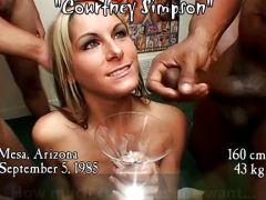 Blondine schluckt geilen Sperma-Cocktail